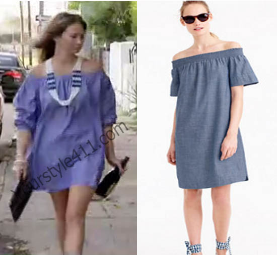 Southern Charm, Landon Clements, Landen, #southerncharm, cynthia rowley, #landonclements, tunic dress, blue dress, worn on tv, tv fashion, clothes from tv shows, Southern Charm outfits, southern charm fashion, bravo, reality tv, season 3