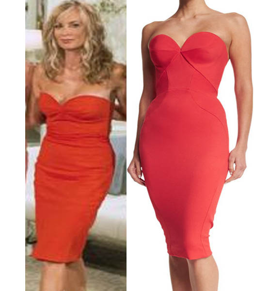 Real Housewives of Beverly Hills, Reunion, RHOBH Season 6, Eileen Davidson, red dress, worn on tv, tv fashion, clothes from tv shows, RHOBH outfits, bravo, reality tv