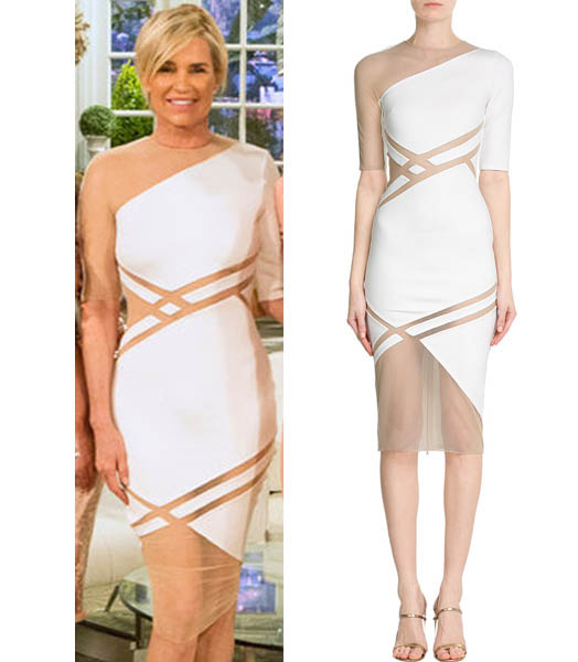 Real Housewives of Beverly Hills, Reunion, RHOBH Season 6, Yolanda Foster, white dress, worn on tv, tv fashion, clothes from tv shows, RHOBH outfits, bravo, reality tv