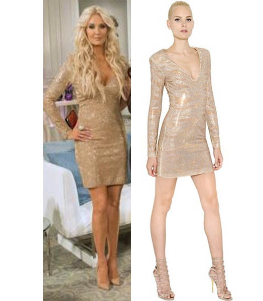 Real Housewives of Beverly Hills, Reunion, Erika Girardi, Erika Jayne, Erica, Balmain, worn on tv, tv fashion, clothes from tv shows, RHOBH outfits, bravo, reality tv