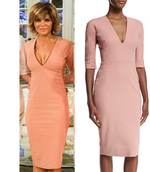Real Housewives of Beverly Hills, Reunion, RHOBH Season 6, Lisa Rinna, pink dress, victoria beckham, worn on tv, tv fashion, clothes from tv shows, RHOBH outfits, bravo, reality tv
