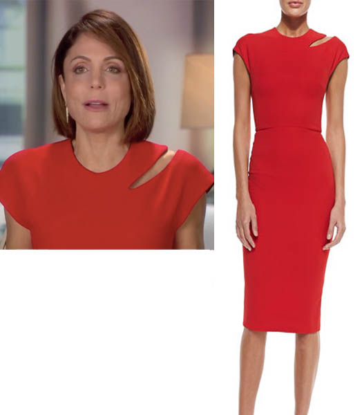 Real Housewives of New York, RHONY Season 8, Bethenny Frankel, red dress, worn on tv, tv fashion, clothes from tv shows, RHONY outfits, bravo, reality tv