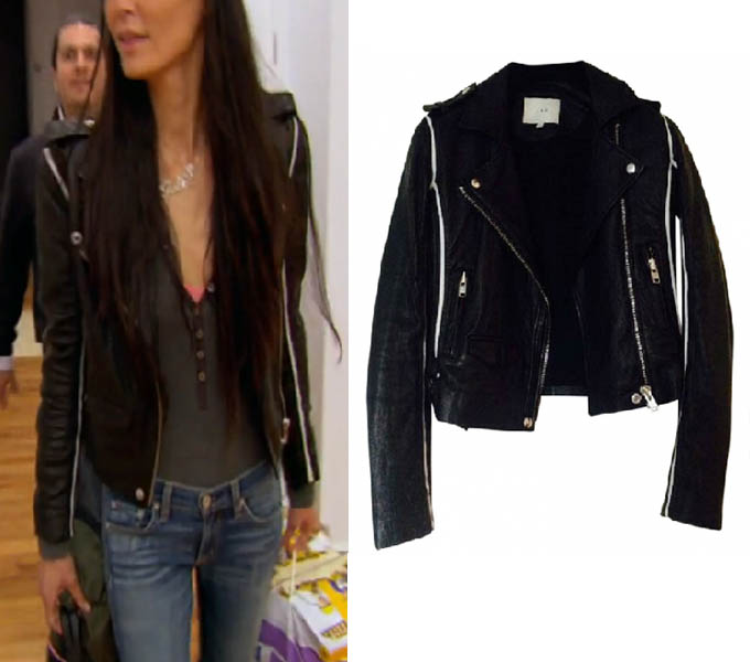 Real Housewives of New York, RHONY Season 8, Jules Wainstein, IRO leather jacket, worn on tv, tv fashion, clothes from tv shows, RHONY outfits, bravo, reality tv