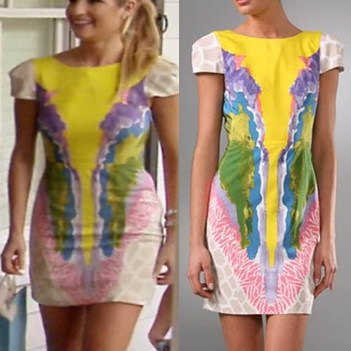 Southern Charm, Naomi Orlinda, pink and yellow dress, worn on tv, tibi, tv fashion, clothes from tv shows, Southern Charm outfits, bravo, reality tv, season 3