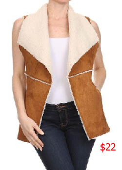 Southern Charm, Cameran Eubanks, Cameron, sheepskin vest, shearling vest, faux fur vest, sherpa vest, open vest, worn on tv, tv fashion, clothes from tv shows, Southern Charm outfits, southern charm fashion, bravo, reality tv, season 3