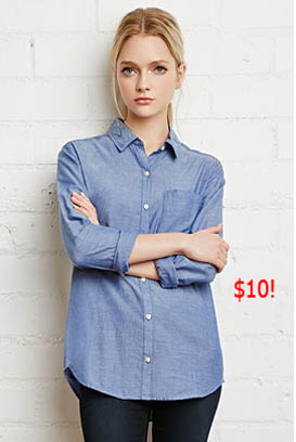 Southern Charm, Cameran Eubanks, Cameron, blue shirt, chambray shirt, button shirt, worn on tv, tv fashion, clothes from tv shows, Southern Charm outfits, southern charm fashion, bravo, reality tv, season 3