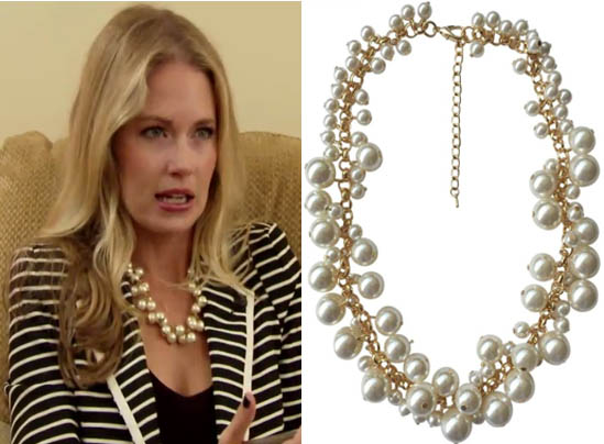 Southern Charm, Cameran Eubanks, Cameron, pearl necklace, faux pearl necklace, #southerncharm, #scharm, worn on tv, tv fashion, clothes from tv shows, Southern Charm outfits, southern charm fashion, bravo, reality tv, season 3
