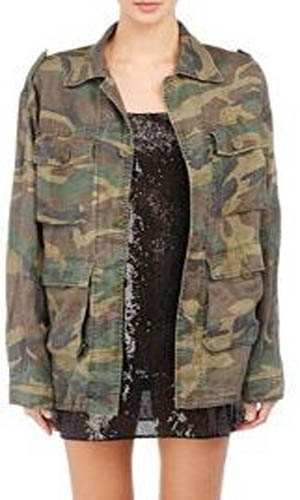 Keeping up with the Kardashians, Kris Jenner, Camouflage Jacket, military jacket, army jacket, camouflage, Season 12, saint laurent, worn on tv, tv fashion, clothes from tv shows, Keeping Up With the Kardashians outfits, eonline, reality tv, KUWTK