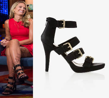 Southern Charm, Cameran Eubanks, Cameren, Cameron, black sandals, watch what happens live, #southerncharm, #scharm, worn on tv, tv fashion, clothes from tv shows, Southern Charm outfits, bravo, reality tv, season 3