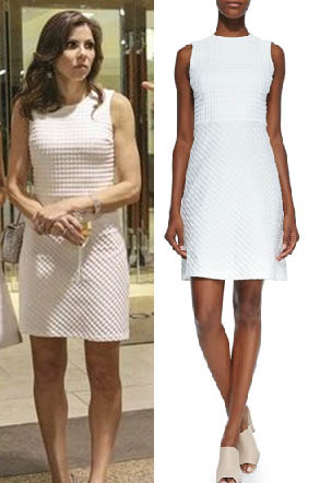 Real Housewives of Orange County, RHOC, Heather Dubrow, white dress, #RHOC, #RealHousewivesOrangeCounty, Season 10, baptism, worn on tv, tv fashion, clothes from tv shows, Real Housewives of Orange County outfits, bravo, reality tv clothes