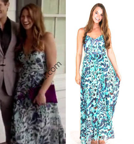 Southern Charm, Landon Clements, Landen, blue dress, blue maxi dress, maxi dress, blue sundress, worn on tv, tv fashion, clothes from tv shows, Southern Charm outfits, southern charm fashion, bravo, reality tv, season 3