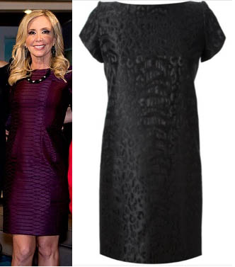 Real Housewives of Orange County, RHOC, Shannon Beador, Burgundy Dress, Maroon Dress, croc dress, Saint Laurent, #RHOC, #RealHousewivesOrangeCounty, Season 10, Reunion, worn on tv, tv fashion, clothes from tv shows, Real Housewives of Orange County outfits, bravo, reality tv clothes