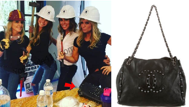 Real Housewives of Orange County, RHOC, Tamra Judge, Chanel Purse, Chanel Tote, Black purse, #RHOC, #RealHousewivesOrangeCounty, worn on tv, tv fashion, clothes from tv shows, Real Housewives of Orange County outfits, bravo, reality tv clothes