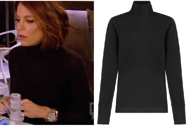 Real Housewives of New York, RHNY, Bethenny Frankel, Bethany, black turtleneck, black shirt, black long sleeve t-shirt, #RHNY, #RealHousewivesNewYork, worn on tv, tv fashion, clothes from tv shows, Real Housewives of New York outfits, bravo, reality tv clothes