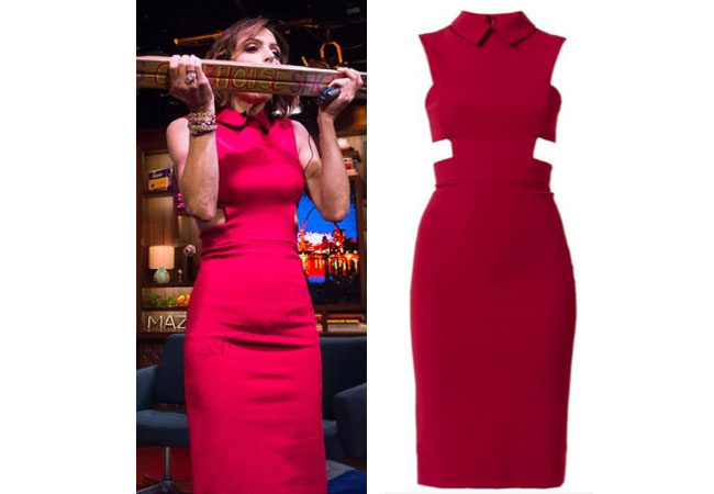 Real Housewives of New York, RHNY, Bethenny Frankel, Watch What Happens Live, Red Dress, Cushnie Et Ochs, #RHNY, #RealHousewivesNewYork, worn on tv, tv fashion, clothes from tv shows, Real Housewives of New York outfits, bravo, reality tv clothes
