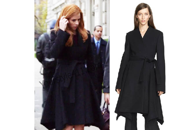 Suits, #Suits, Donna, black coat, worn on tv, tv fashion, clothes from tv shows, Real Housewives of Orange County outfits, bravo, reality tv clothes, usanetwork