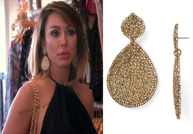 Real Housewives of Orange County, RHOC, Vickie Gunvalson, Jimmy #RHOC, #RealHousewivesOrangeCounty, Season 11, Kelly Dodd, Kelli, gold teardrop earrings, gold disc earrings, gold earrings, Roni Blanshay, worn on tv, tv fashion, clothes from tv shows, Real Housewives of Orange County outfits, bravo, reality tv clothes