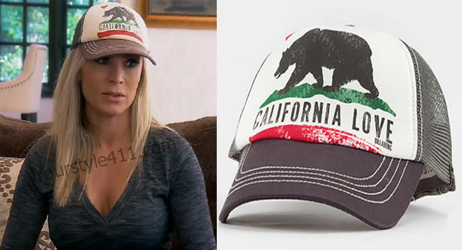 Real Housewives of Orange County, RHOC, Tamra Judge, trucker hat, California hat, #RHOC, #RealHousewivesOrangeCounty, worn on tv, tv fashion, clothes from tv shows, Real Housewives of Orange County outfits, bravo, reality tv clothes