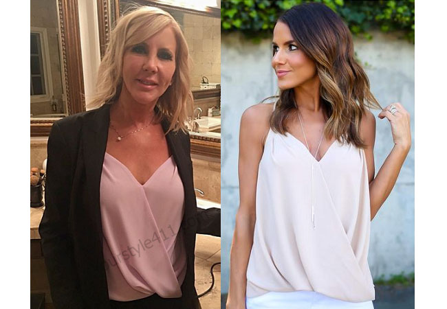 Real Housewives of Orange County, RHOC, Vicki Gunvalson, pink top, #RHOC, #RealHousewivesOrangeCounty, worn on tv, tv fashion, clothes from tv shows, Real Housewives of Orange County outfits, bravo, reality tv clothes