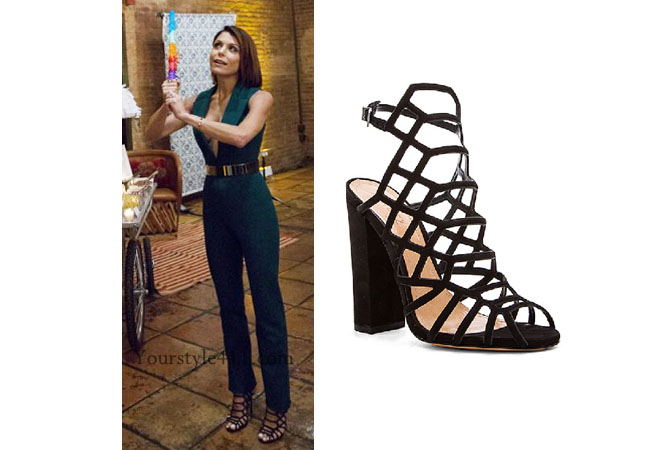 Real Housewives of New York, RHNY, Bethenny Frankel, Bethenny Frankel outfit, Bethenny Frankel style, #RHONY, black sandals, schutz sandals, Bethenny Frankel fashion, #RHNY, #RealHousewivesNewYork, worn on tv, tv fashion, clothes from tv shows, Real Housewives of New York outfits, bravo, reality tv clothes