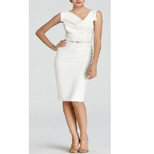 Suits, worn on tv, tv fashion, clothes from tv shows, Suits outfits, Suits fashion, usa network, law firm clothes, Donna Paulson, white dress, white asymmetric dress, Sarah Rafferty, season 6, Suits style, work outfits, work fashion, work style, #Suits