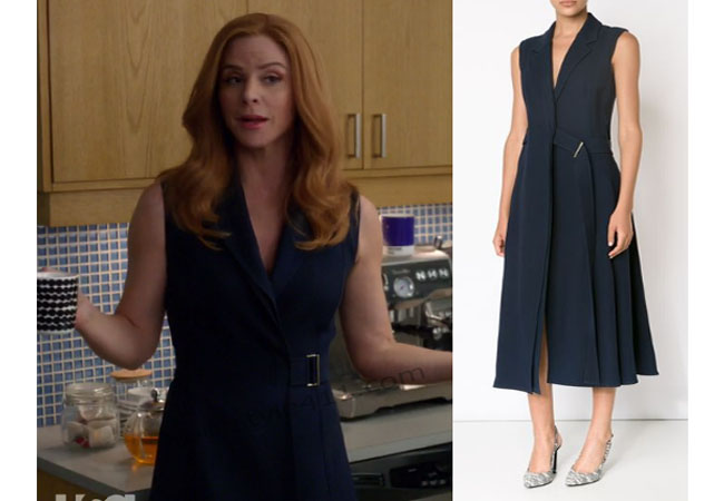 suits season 6 episode 3 donna s navy dress your style 411 your style 411