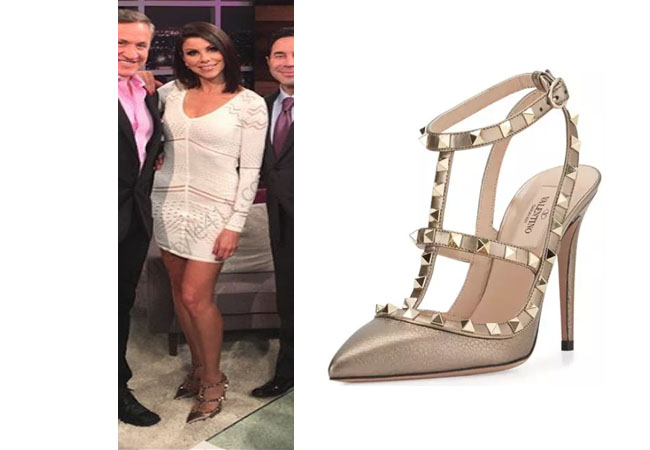 Real Housewives of Orange County, RHOC, Heather Dubrow, orange dress, #RHOC, #RealHousewivesOrangeCounty, worn on tv, heather dubrow outfit, tv fashion, clothes from tv shows, Real Housewives of Orange County outfits, bravo, reality tv clothes