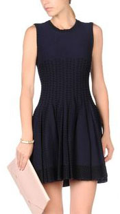 Real Housewives of New York, RHONY, Bethenny Frankel outfit, #RHONY, #RHNY, #bravo, Real Housewives of New York style, Real Housewives of New York fashion, navy skater dress, black skater dress, alaia skater dress, black and white skater dress, skinny girl, social media, bravotv.com, the take, Bethenny Frankel style, #RealHousewivesNewYork, worn on tv, tv fashion, clothes from tv shows, Real Housewives of New York outfits, bravo, shop your tv, reality tv clothes