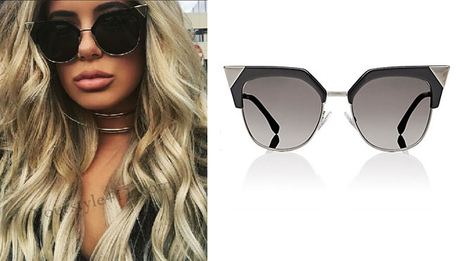Brielle Biermann, Don't Be Tardy, Don't Be Tardy fashion, Don't Be Tardy style, #dontbetardy, #goals, cat-eyed sunglasses, bravotv.com, Season 5, worn on tv, tv fashion, clothes from tv shows, Real Housewives of Orange County outfits, bravo, reality tv clothes