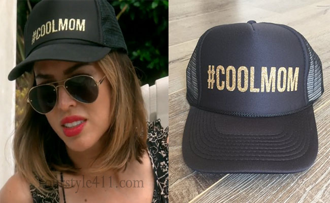Real Housewives of Orange County, RHOC, Kelly Dodd, Kelly Dodd style, Kelly Dodd fashion, #kellydodd, black hat, #coolmom hat, #RHOC, Kelly Dodd outfit, #RealHousewivesOrangeCounty, worn on tv, shop your tv, the take, bravotv.com, tv fashion, clothes from tv shows, Real Housewives of Orange County outfits, bravo, Season 11, reality tv clothes