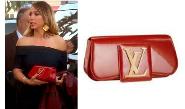 Real Housewives of Orange County, RHOC, Kelly Dodd style, Kelly Dodd fashion, #kelly dodd, bravotv.com, bravotv.com, #RHOC, Kelly Dodd outfit, #RealHousewivesOrangeCounty, the take, red clutch, louis vuitton, louis vuitton sobe, red purse, red wallet, shop your tv, worn on tv, tv fashion, clothes from tv shows, Real Housewives of Orange County outfits, bravo, Season 11, reality tv clothes