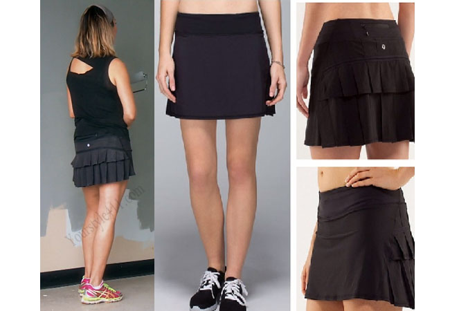 Real Housewives of Orange County, RHOC, Kelly Dodd, Kelly Dodd style, Kelly Dodd fashion, #kellydodd, black skirt, lululemon, running skirt, tennis skirt, #RHOC, Kelly Dodd outfit, #RealHousewivesOrangeCounty, worn on tv, shop your tv, the take, bravotv.com, tv fashion, clothes from tv shows, Real Housewives of Orange County outfits, bravo, Season 11, reality tv clothes