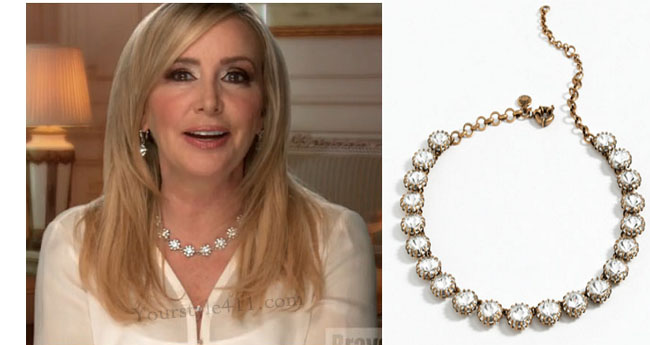 Real Housewives of Orange County, RHOC, Shannon Beador, Shannon Beador style, Shannon Beador fashion, #shannonbeador, crystal necklace, #RHOC, Shannon Beador outfit, #RealHousewivesOrangeCounty, worn on tv, tv fashion, clothes from tv shows, Real Housewives of Orange County outfits, bravo, Season 11, reality tv clothes