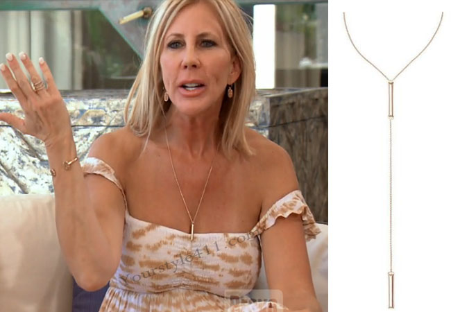 Real Housewives of Orange County, RHOC, Vicki Gunvalson, Vicki Gunvalson style, Vicki Gunvalson fashion, #vickigunvalson, Y necklace, gold necklace, #RHOC, Vicki Gunvalson outfit, #RealHousewivesOrangeCounty, worn on tv, tv fashion, clothes from tv shows, Real Housewives of Orange County outfits, bravo, Season 11, reality tv clothes
