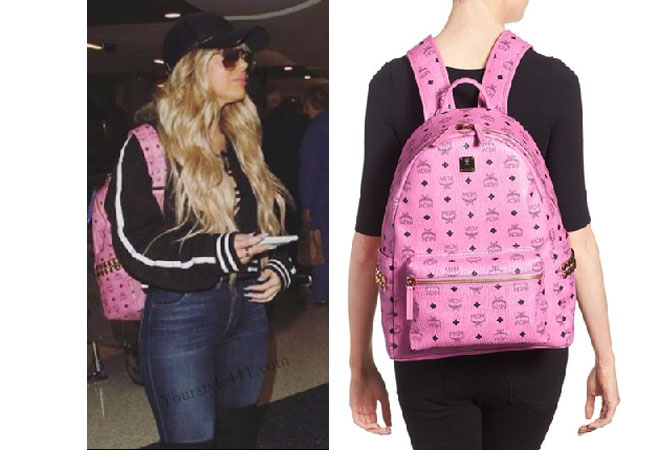 Brielle Biermann, Don't Be Tardy, Don't Be Tardy fashion, Don't Be Tardy style, #dontbetardy, #goals, cat-eyed sunglasses, bravotv.com, Season 5, steal her style, pink backpack, MCM backpack, worn on tv, tv fashion, clothes from tv shows, social media, instagram, snapchat, shop your tv, bravo, reality tv clothes