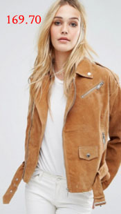 Modern Family, worn on tv, shop your tv, steal her style, the take, tv fashion, clothes from tv shows, Modern Family outfits, Modern Family fashion, Season 8, ABC shows, abc.go.com, Sarah Hyland, Haley Dunphy, biker jacket, brown jacket, beige jacket, All Saints jacket