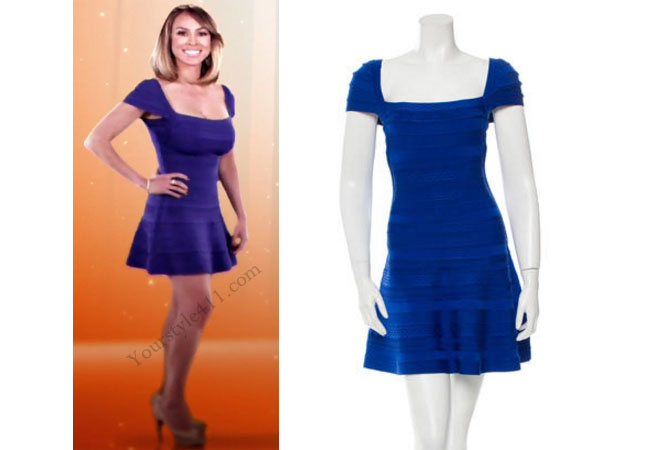 Real Housewives of Orange County, RHOC, Kelly Dodd, Kelly Dodd wardrobe, Kelly Dodd style, Kelly Dodd fashion, #kellydodd, Introduction dress, blue dress, bandage dress, blue Herve Leger dress, #RHOC, Kelly Dodd outfit, shop your tv, the take, bravotv.com, #RealHousewivesOrangeCounty, worn on tv, tv fashion, clothes from tv shows, Real Housewives of Orange County outfits, bravo, Season 11, reality tv clothes
