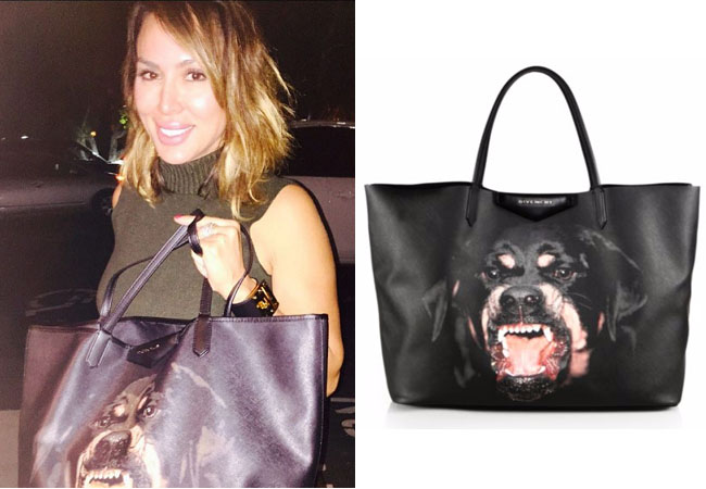 Real Housewives of Orange County, RHOC, Kelly Dodd, Kelly Dodd style, Kelly Dodd fashion, #kellydodd, #RHOC, Kelly Dodd outfit, shop your tv,rottweiler tote, givenchy, dog purse, the take, bravotv.com, #RealHousewivesOrangeCounty, worn on tv, tv fashion, clothes from tv shows, Real Housewives of Orange County outfits, bravo, Season 11, reality tv clothes