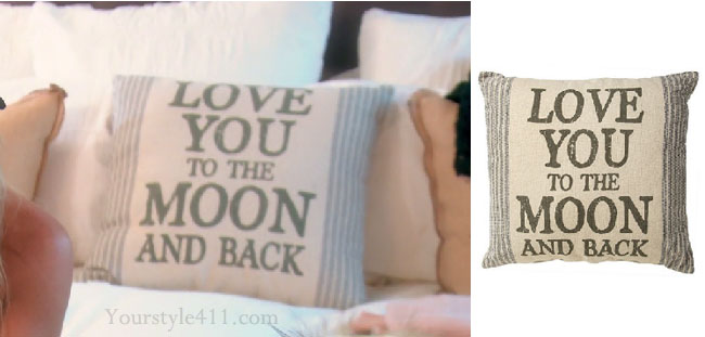 Real Housewives of Orange County, RHOC, Vickie Gunvalson, Vicki Gunvalson fashion, Vicki Gunvalson wardrobe, Vicki Gunvalson style, pillow, love you to the moon and back, #RHOC, #RealHousewivesOrangeCounty, Season 11, shop your tv, the take, bravotv.com, worn on tv, tv fashion, clothes from tv shows, Real Housewives of Orange County outfits, bravo, reality tv clothes