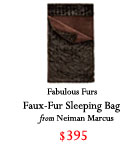 faux-fur sleeping bag, Holiday 2016, Christmas 2016, gift guide 2016, gifts for him 2016, gifts for her 2016, gifts for traveler, gifts for boyfriend, gifts for friend, gifts for mom, gifts for dad, gifts for sister, Christmas present ideas, budget friendly gifts 2016
