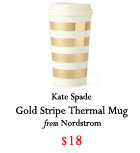 Kate Spade thermal mug, gold thermal mug, Holiday 2016, Christmas 2016, gift guide 2016, gifts for him 2016, gifts for her 2016, gifts for traveler, gifts for boyfriend, gifts for friend, gifts for mom, gifts for dad, gifts for sister, Christmas present ideas, budget friendly gifts 2016