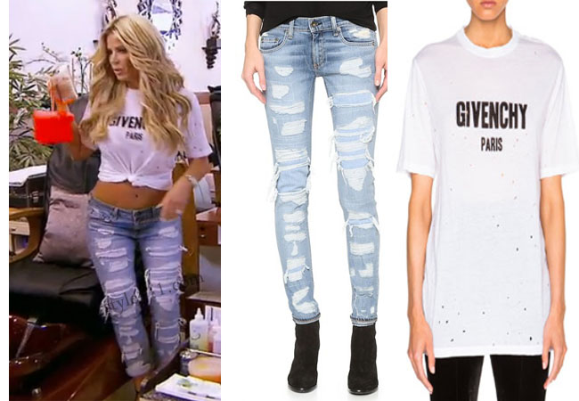 Kim Zolciak Biermann, Don't Be Tardy, Don't Be Tardy fashion, Don't Be Tardy style, Kim Zolciak wardrobe, Brielle Biermann clothes, #dontbetardy, #goals, Givenchy tee shirt, Givenchy t-shirt, rag & bone distressed jeans, Rag & bone boyfriend jeans, rag & bone brigade jeans, steal her style, bravotv.com, shop your tv, the take, Brielle Biermann outfits, worn on tv, tv fashion, clothes from tv shows, Don't Be Tardy outfits, bravo, reality tv clothes