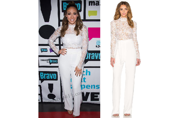 Real Housewives of New Jersey, RHONJ, Melissa Gorga outfit, #RHONJ, #RHNJ, #bravo, Real Housewives of New Jersey style, Real Housewives of New Jersey fashion, Melissa Gorga style, white jumpsuit, white lace jumpsuit, pantsuit, #RealHousewivesNewJersey, social media, bravotv.com, shop your tv, the take, worn on tv, tv fashion, clothes from tv shows, Real Housewives of New York outfits, bravo, shop your tv, reality tv clothes