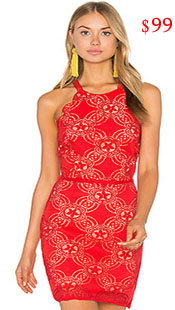 Real Housewives of Beverly Hills, RHBH, RHOBH, Eileen Davidson, Eileen Davidson fashion, Real Housewives of Beverly Hills style, Real Housewives of Beverly Hills clothes, Eileen Davidson style, Eileen Davidson wardrobe, #RHOBH, #RealHousewivesBeverlyHills, steal her style, the take, shop your tv, worn on tv, tv fashion, clothes from tv shows, Real Housewives of Beverly Hills outfits, bravo, reality tv clothes, Season 7, Season 2, Dorit's party, red dress, red lace dress, red halter dress, red lace halter dress