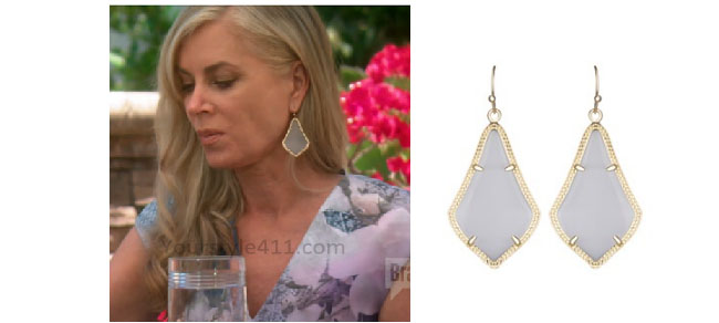 Real Housewives of Beverly Hills, RHBH, RHOBH, Eileen Davidson, Eileen Davidson fashion, Real Housewives of Beverly Hills style, Real Housewives of Beverly Hills clothes, Eileen Davidson style, Eileen Davidson wardrobe, #RHOBH, #RealHousewivesBeverlyHills, steal her style, the take, shop your tv, worn on tv, tv fashion, clothes from tv shows, Real Housewives of Beverly Hills outfits, bravo, reality tv clothes, Season 7, Season 5, grey earrings, slate earrings, silver earrings, Camille's lunch