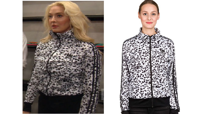 Real Housewives of Beverly Hills, RHBH, RHOBH, Erika Girardi, Erika Jayne, Erica Giradi, Erica Jane, #RHBH, #RealHousewivesBeverlyHills, shop your tv, the take, steal her style, worn on tv, tv fashion, clothes from tv shows, Real Housewives of Orange County outfits, bravo, reality tv clothes, Season 7, #RHOBH, adidas track jacket, adidas inked jacket, adidas original jacket