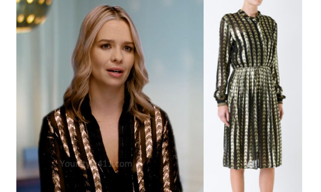 Ladies of London, Marissa Hermer, Marissa Hermer style, Marissa Hermer fashion, steal her style, shop your tv, the take, worn on tv, bravotv.com, Marissa Hermer wardrobe, tv fashion, clothes from tv shows, Ladies of London outfits, Season 3, bravo, reality tv clothes, interview, gold and black dress, black and gold dress