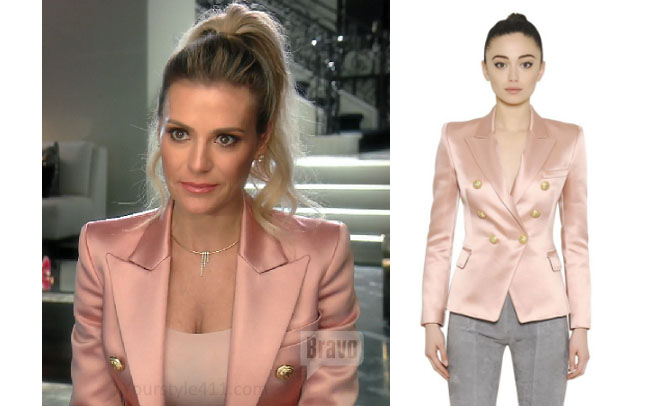 Real Housewives of Beverly Hills, RHBH, RHOBH, Dorit Kemsley, Dorit Kemsley fashion, Dorit Kemsley style, Dorit Kemsley wardrobe, #RHOBH, #RealHousewivesBeverlyHills, steal her style, the take, shop your tv, worn on tv, tv fashion, clothes from tv shows, Real Housewives of Beverly Hills outfits, bravo, reality tv clothes, Season 7, Episode 10, pink jacket, pink shiny jacket, Balmain jacket