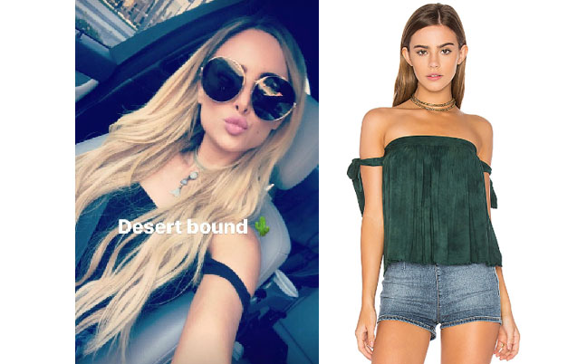 Amanda Stanton, The Bachelor,  celebrity style, star style, Amanda Stanton outfits, Amanda Stanton fashion, Amanda Stanton style, shop your tv, @amanda_stantonn, worn on tv, tv fashion, clothes from tv shows, tv outfits, Blue Life off the shoulder green top, emerald off the shoulder top