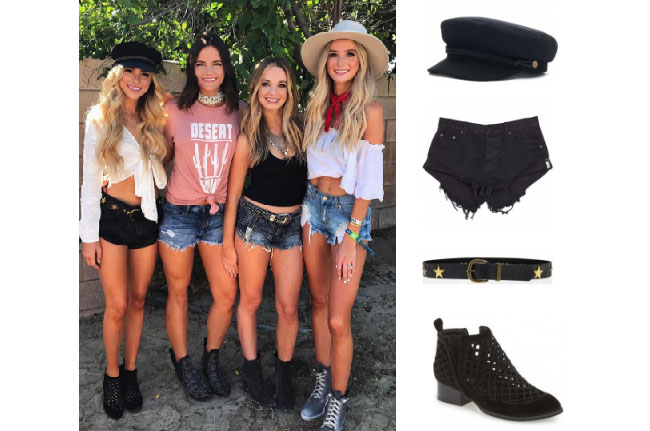 Amanda Stanton, The Bachelor,  celebrity style, star style, Amanda Stanton outfits, Amanda Stanton fashion, Amanda Stanton style, shop your tv, @amanda_stantonn, worn on tv, tv fashion, clothes from tv shows, tv outfits, one teaspoon bandits shorts, lovestrength stardust belt, brixton cap, black booties